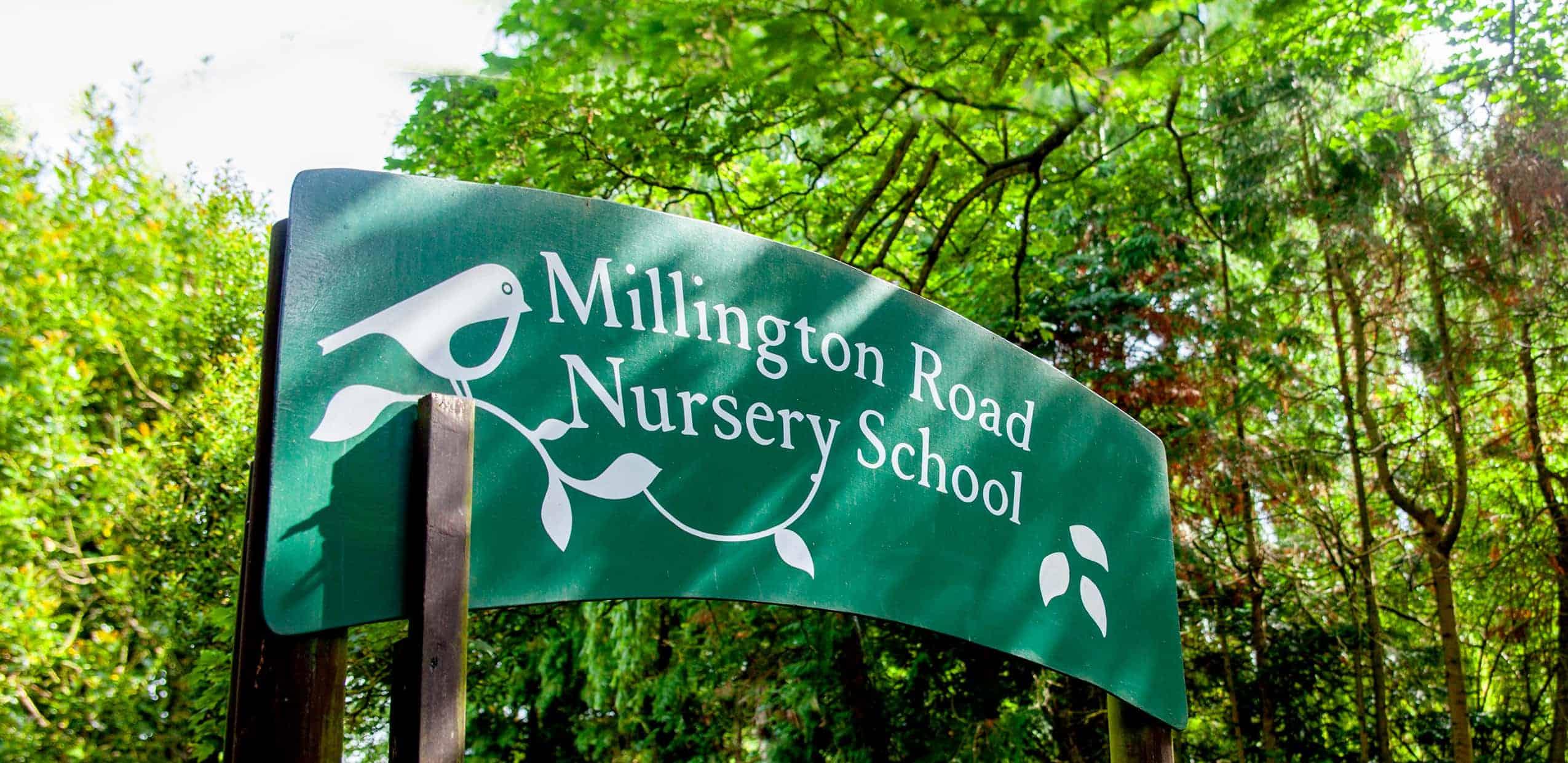 Millington Road Nursery School sign