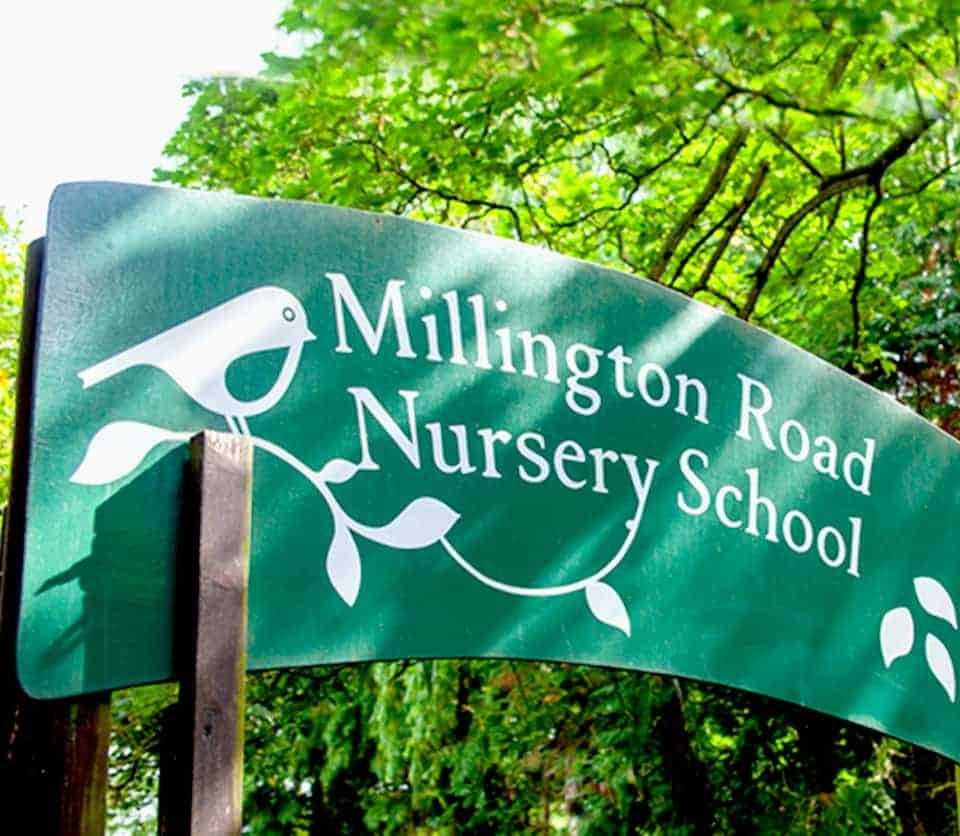 Millington Road Nursery School leafy lane entrance