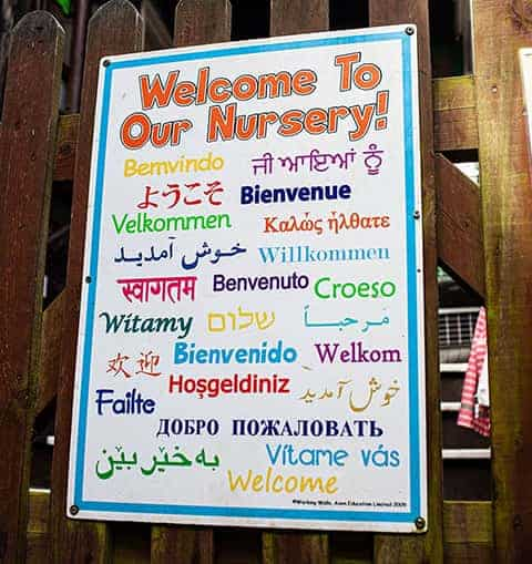 Welcome to our Nursery signage